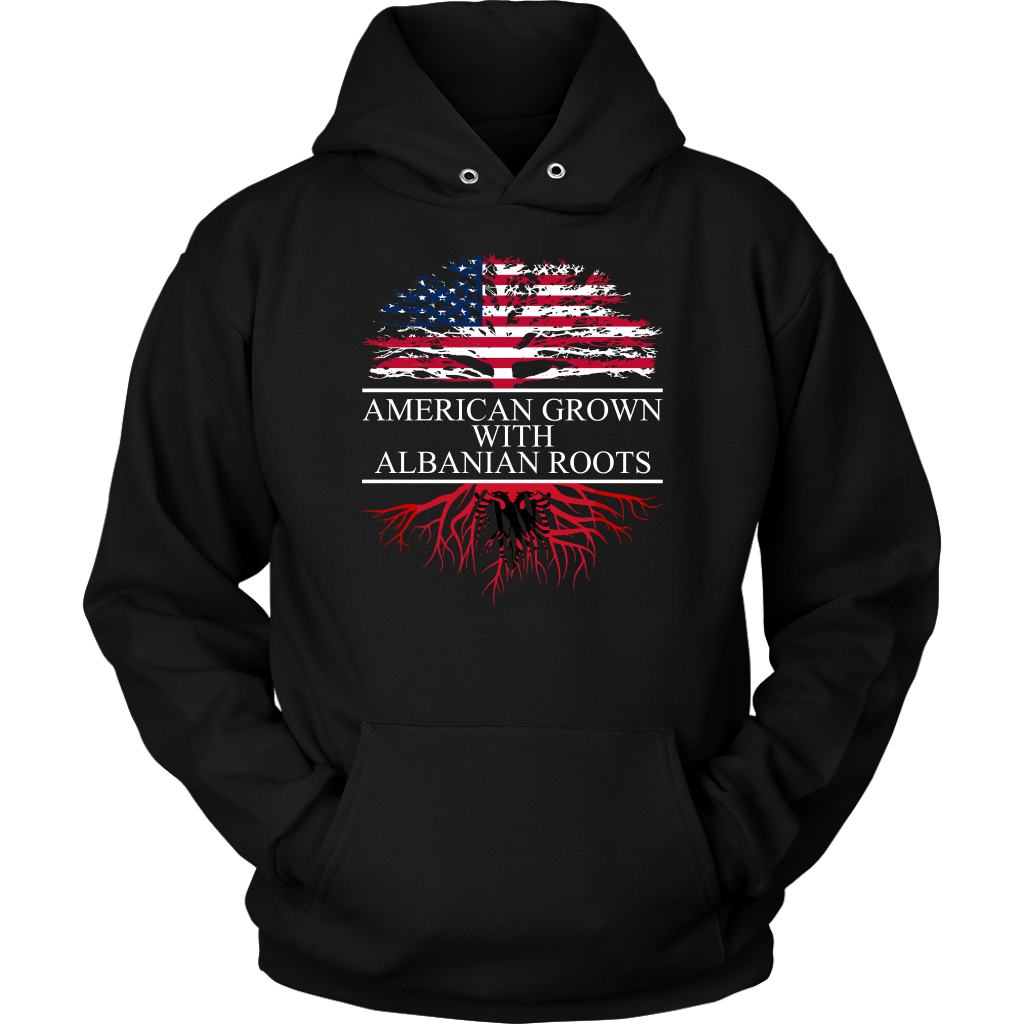 American Grown with Albanian Roots Hoodie
