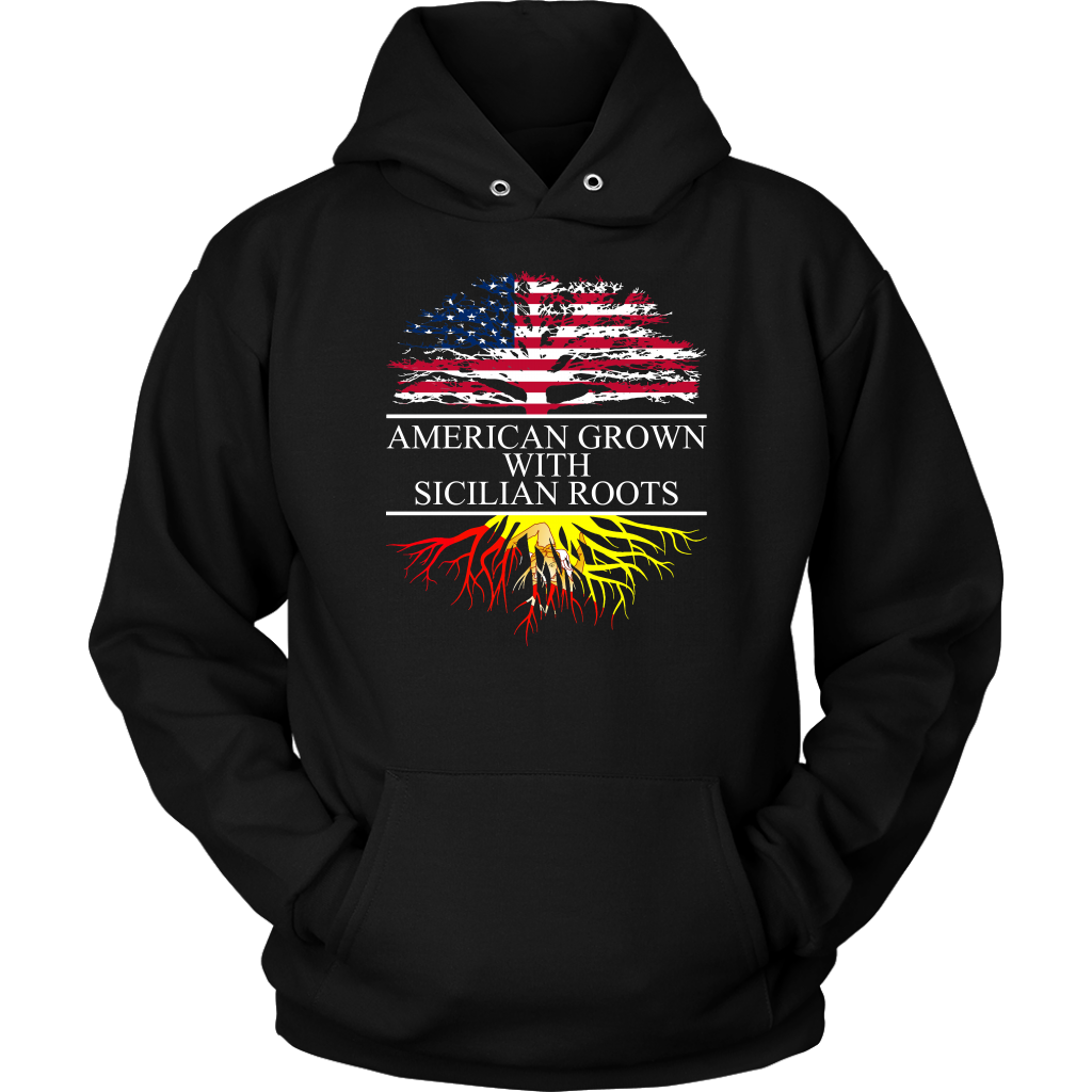 American Grown with Sicilian Roots Hoodie