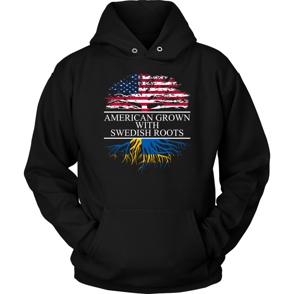 American Grown with Swedish Roots Hoodie