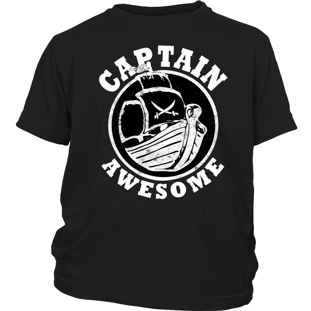 Captain Awesome - Boat Nautical Sailor Pirate Kids Shirt