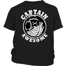 Load image into Gallery viewer, Captain Awesome - Boat Nautical Sailor Pirate Kids Shirt