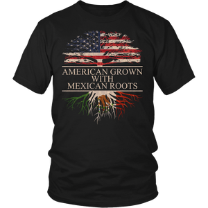 American Grown with Mexican Roots Mexico Pride T-Shirt