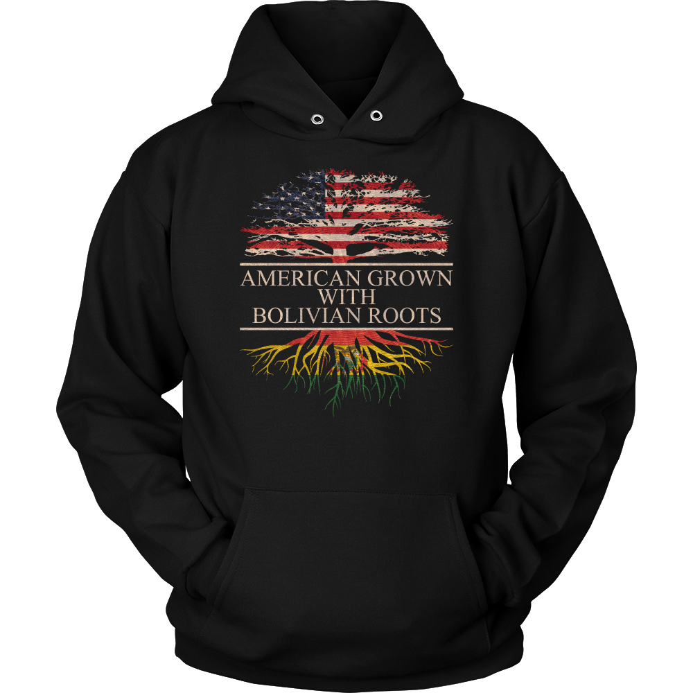 American Grown With Bolivian Roots Hoodie