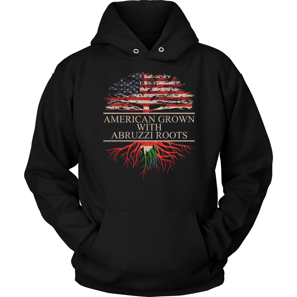 American Grown With Abruzzi Roots Hoodie