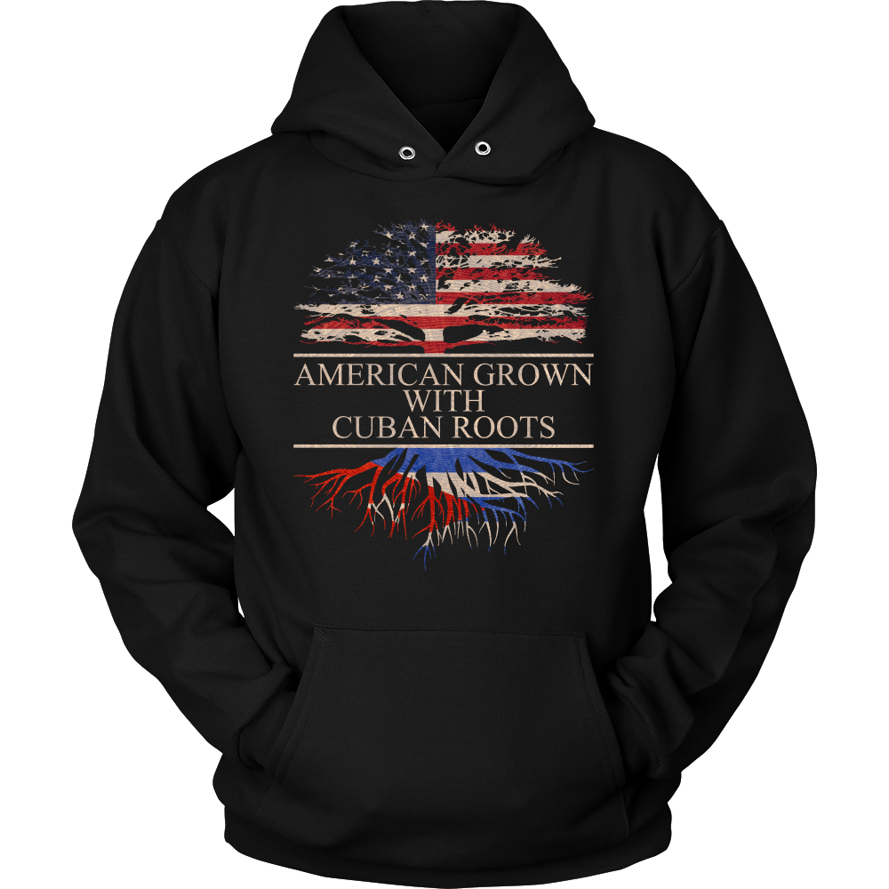 American Grown With Cuban Roots Hoodie