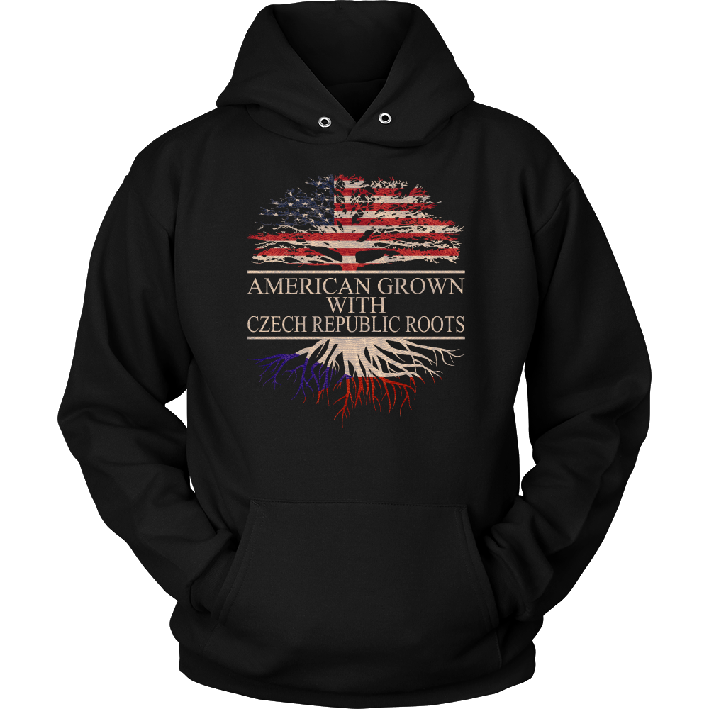 American Grown With Czech Republic Roots Hoodie