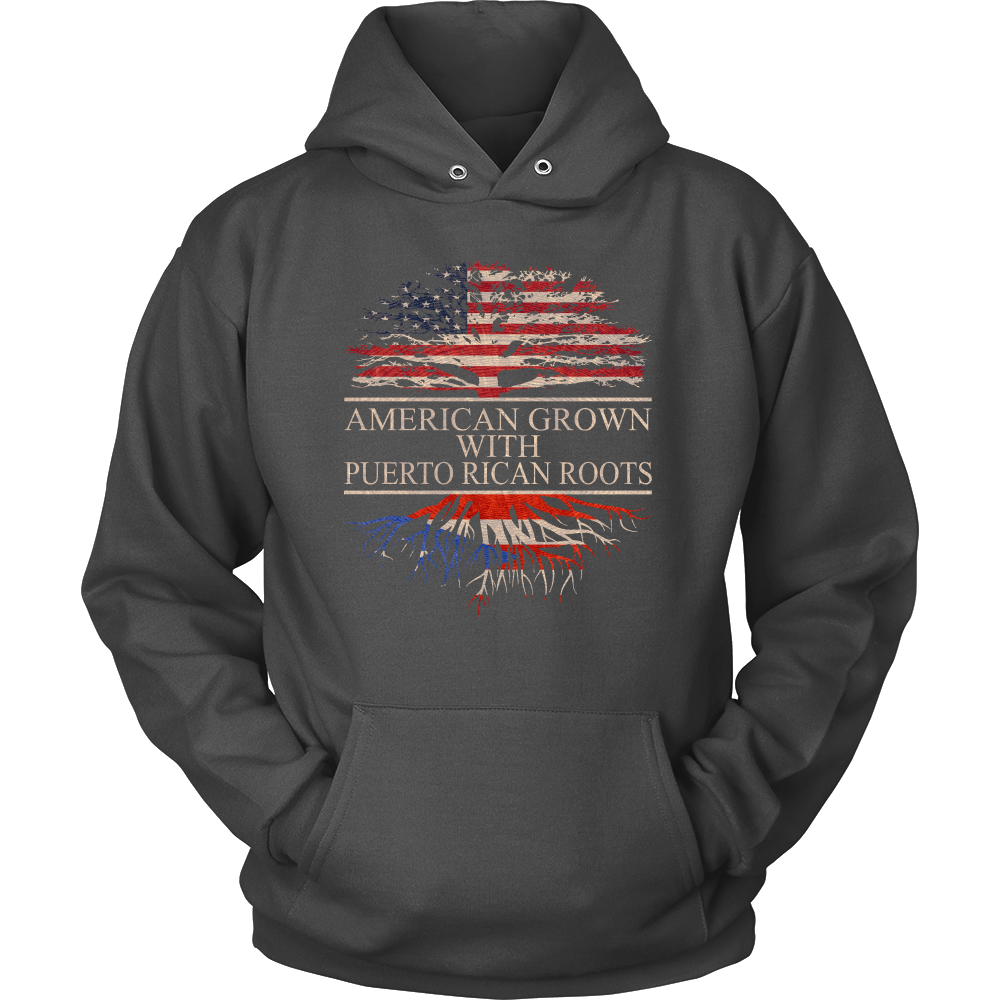 American Grown with Puertorican Roots Hoodie