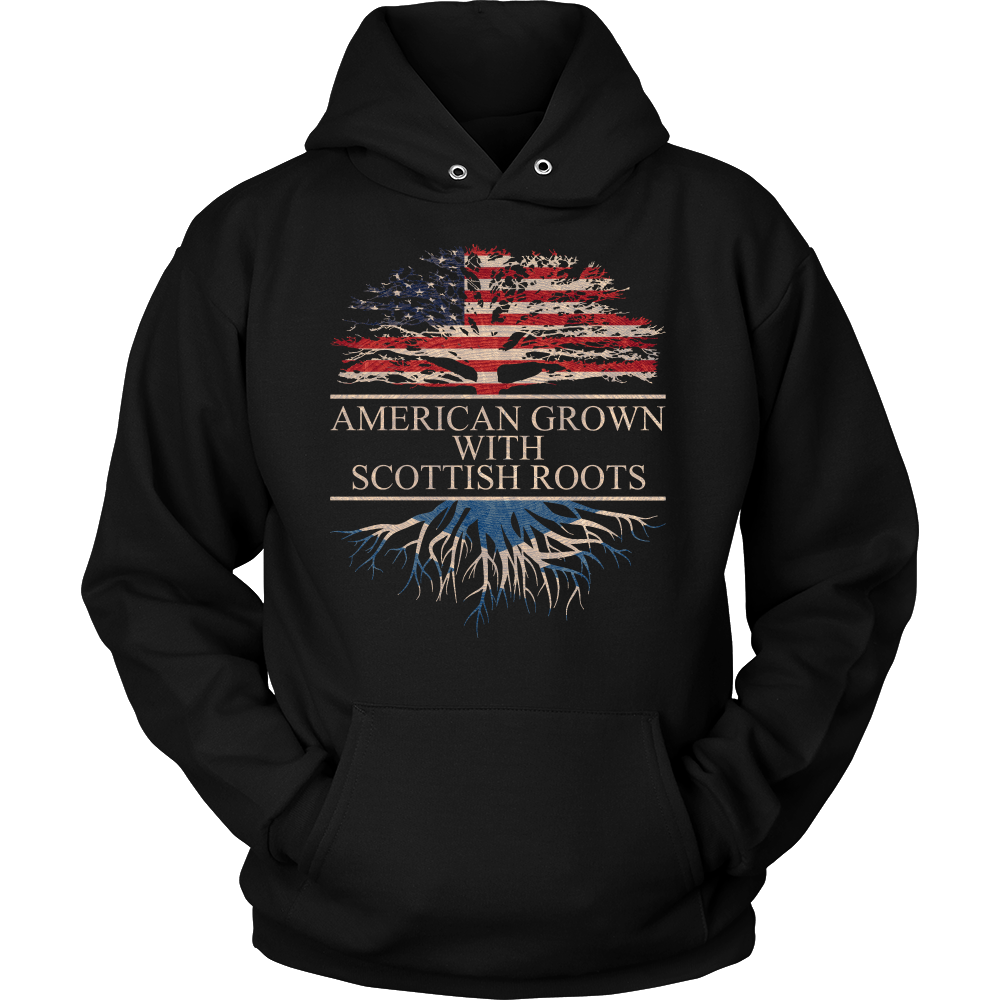 American Grown With Scottish Roots Hoodie