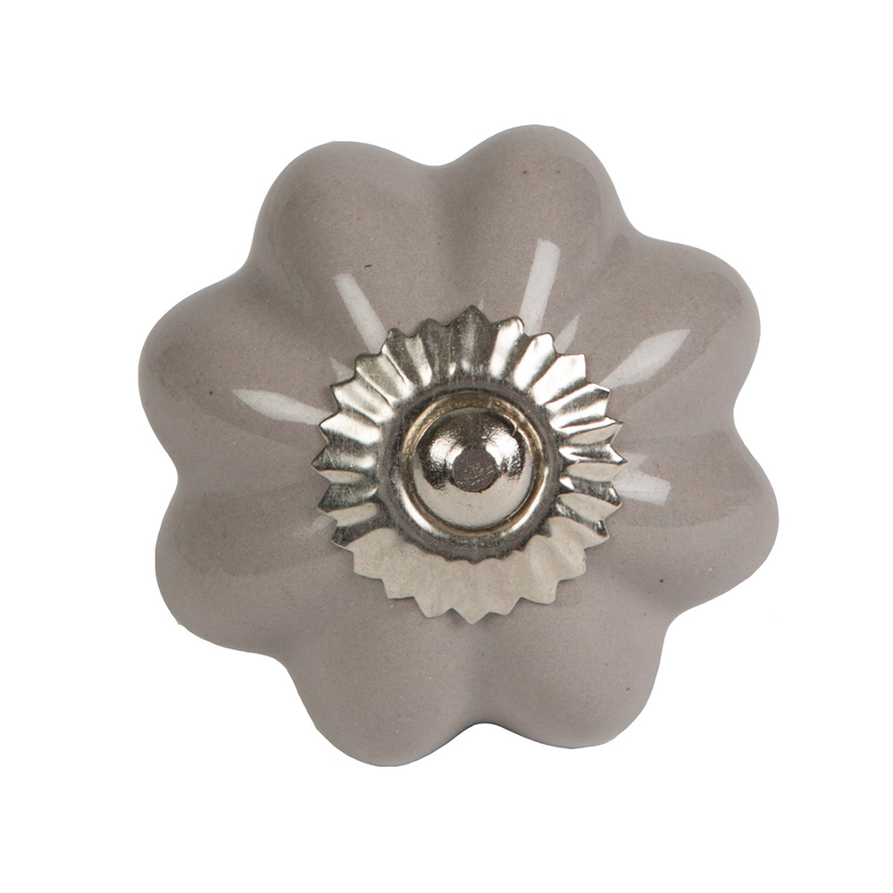 Patricia Grey Drawer Knob
