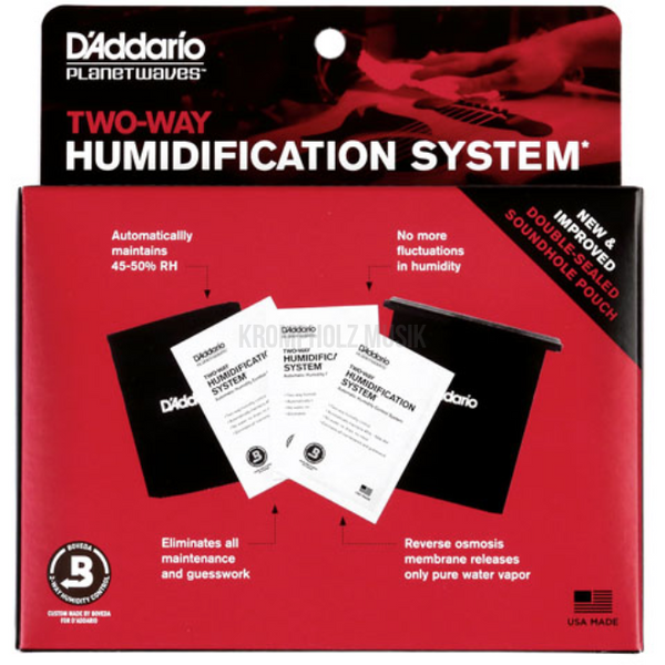 D'ADDARIO Two-Way Hummidification System-Krompholz Shop
