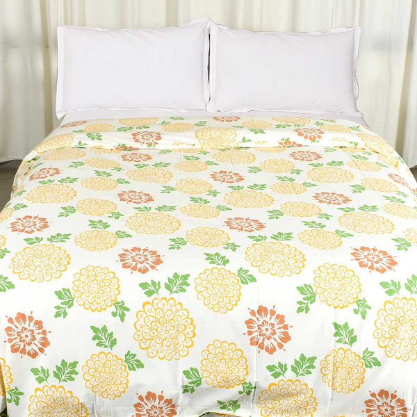 Multi Colored Blossom Cotton Duvet