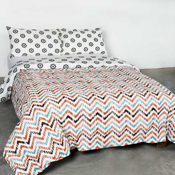 Faded Zig Zag Cotton Duvet