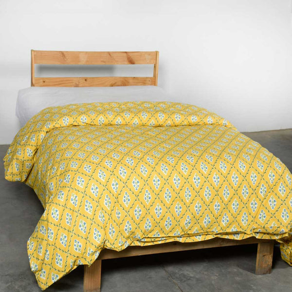 Yellow and Orange Provence Duvet
