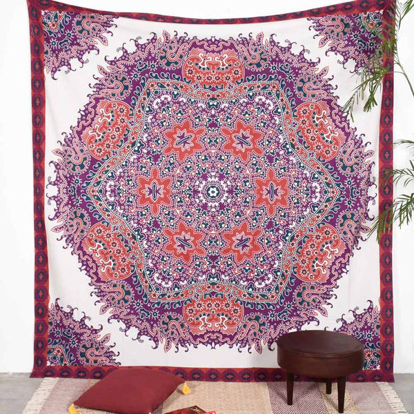 Multi Colored Deco Circles Tapestry