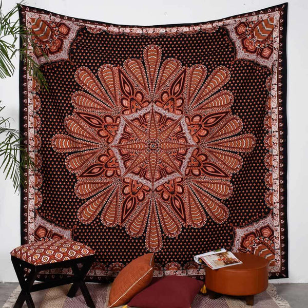 Leafy Medallion Tapestry