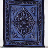 Black and Purple Decorative Rhombus Tapestry
