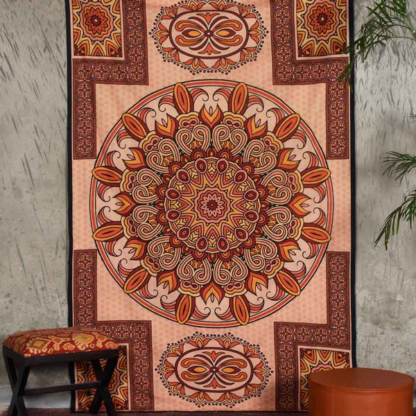 Multi Colored Medallion Tapestry
