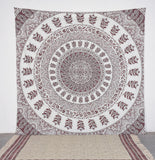 MULTI COLORED CYCLIC BUTA TAPESTRY