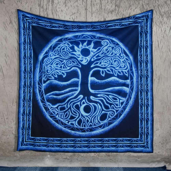 Tree in Blue Tapestry