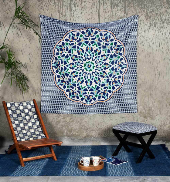 Multicolored Abyla Print Tapestry