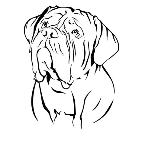 Sticker Autocollant Dogue de bordeaux