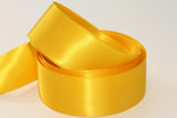 25mm Double Sided Satin Personalised Ribbon - Whites, Creams, Yellows, Golds, Greens and Browns