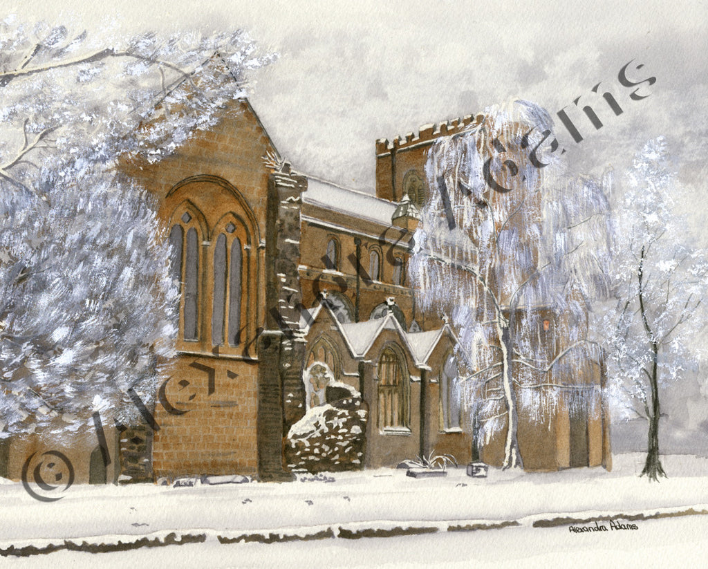 Snow at Shrewsbury Abbey