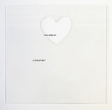 Replacement front for IKEA Ribba Frames - Money Box - Heart Shaped Slot