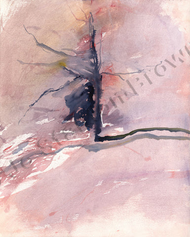 Tree Study in Purple Madder