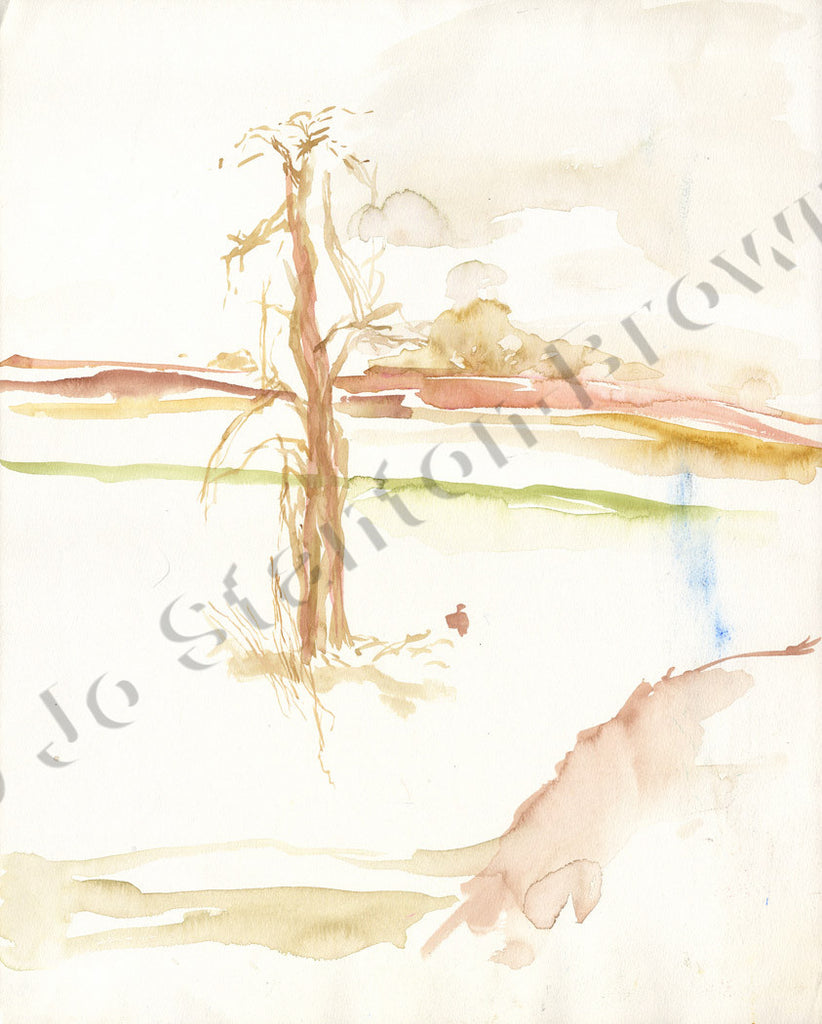 Tree Study in Brown Ochre