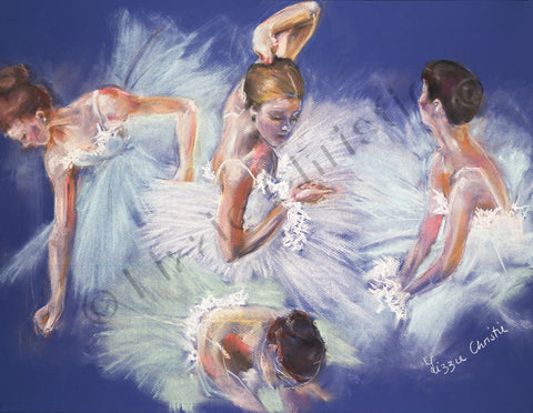 Tribute to Degas in Blue