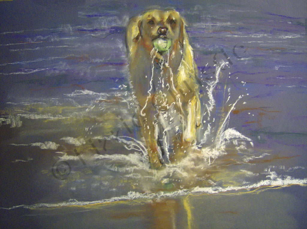 Sandie in the Sea
