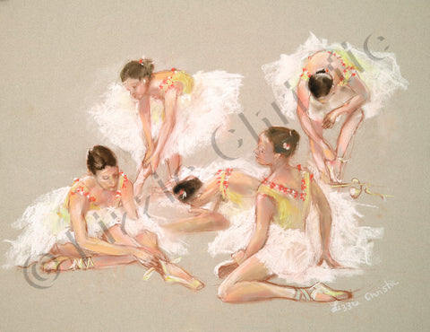 Tribute to Degas in Beige