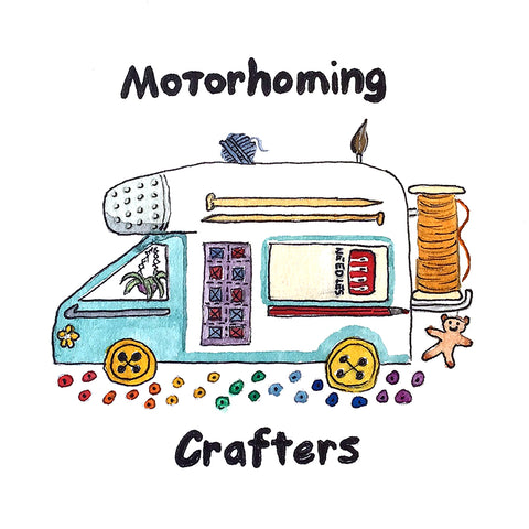 Motorhoming Crafters Stickers ( Free Postage )