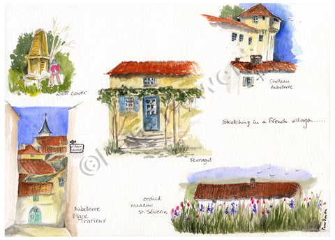 Sketching in a French Village