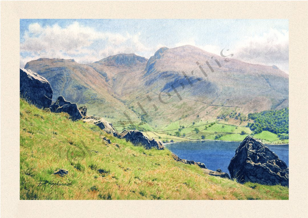 Scafell and Wastwater from Yewbarrow