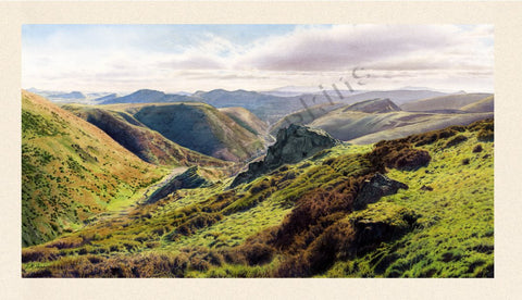 The Shropshire Hills from Cardingmill Valley