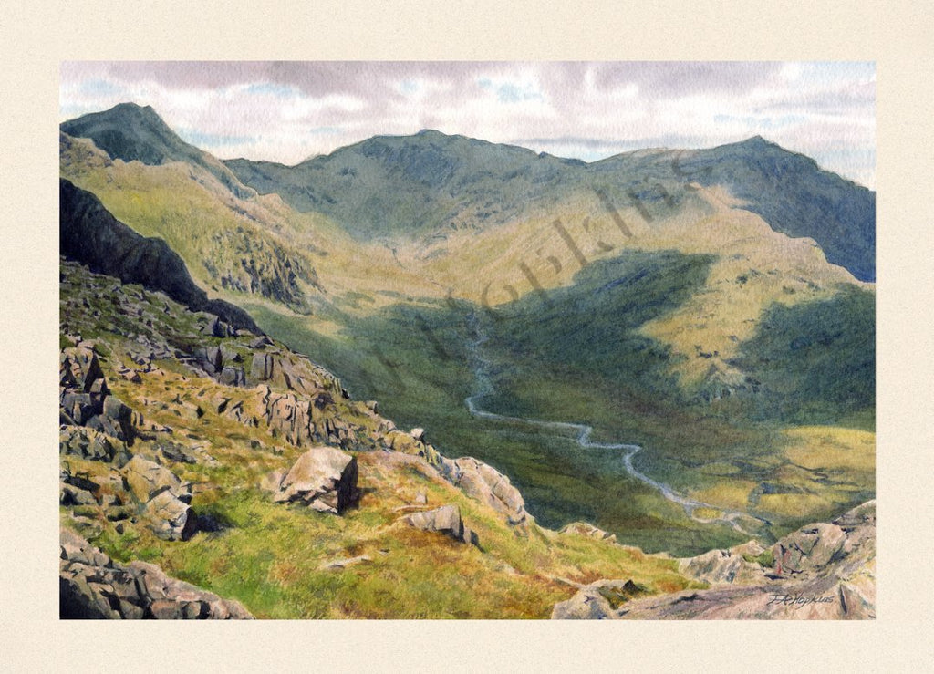 Scafell from Slightside