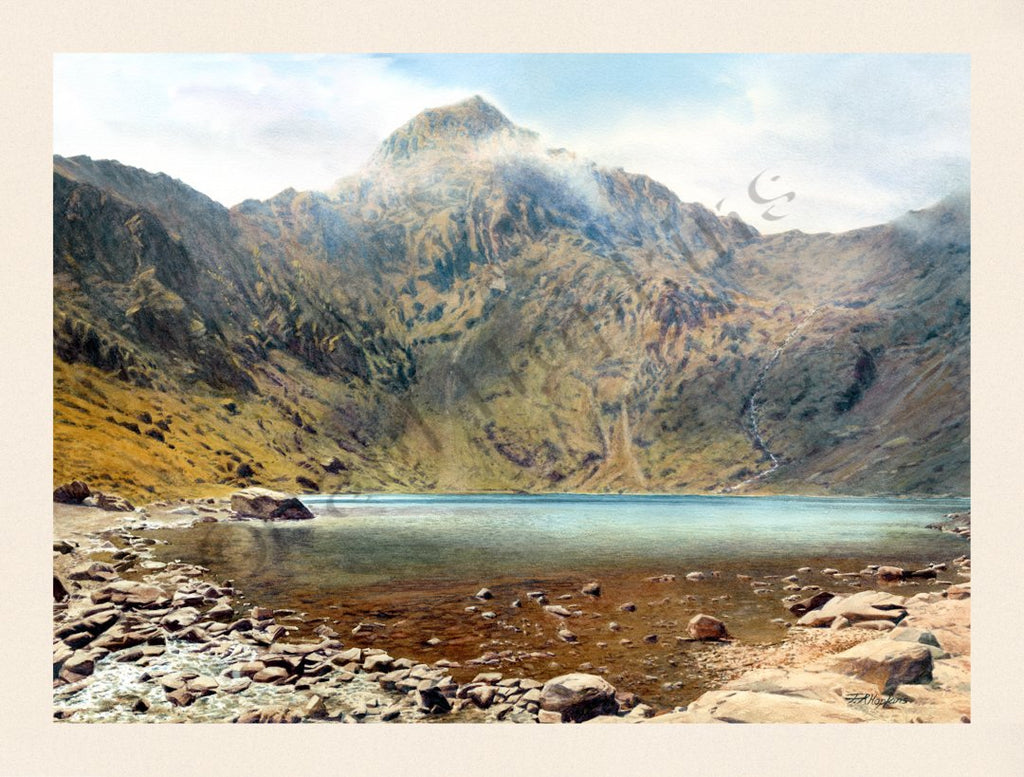 Snowdon Summit from Glas Lyn