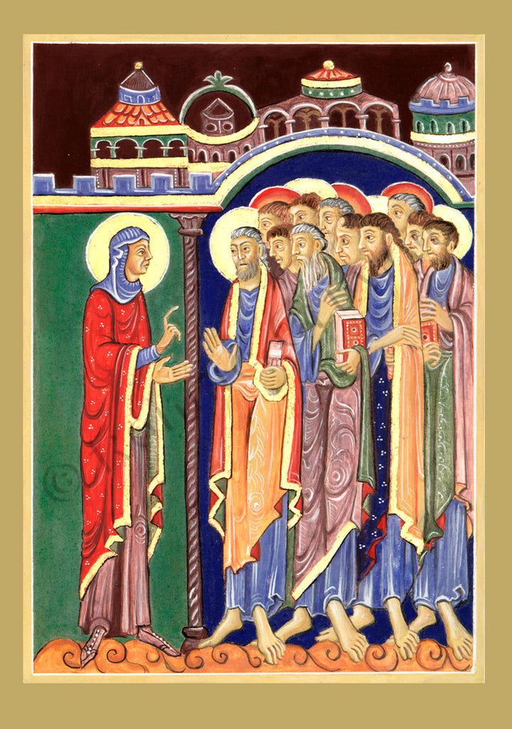 Mary Magdalene announces the Resurrection of Christ to the Disciples