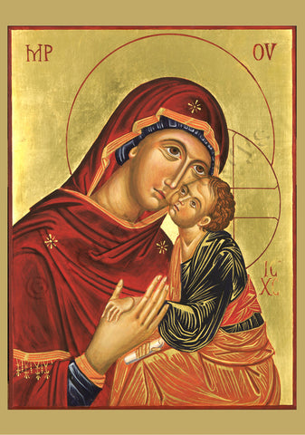 Blessed Virgin and Christ Child - Icon of Loving Kindness