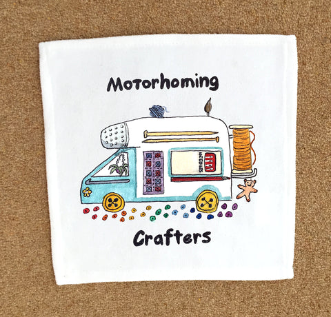 Motorhoming Crafters Small Square Towel