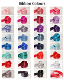 15mm Double Sided Satin Personalised Ribbon - Pinks, Purples, Blues, Reds and Greys