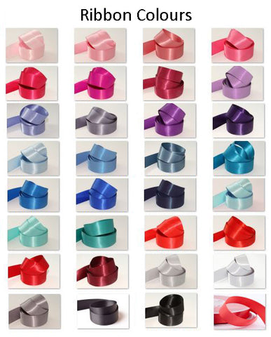 10mm Double Sided Satin Personalised Ribbon - Pinks, Purples, Blues, Reds and Greys