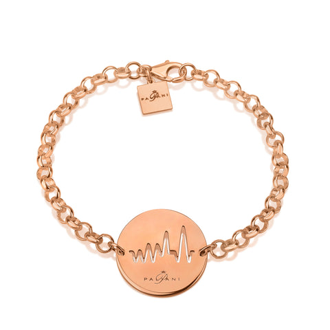 Moonlight Pulse bracelet, Sterling silver, Rose Gold plating, ROLO chain