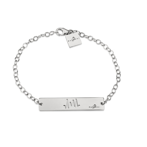 Horizon Pulse bracelet, White gold, 14K, ROLO chain