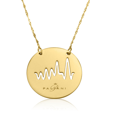 Moonlight Beat necklace, Yellow Gold, 14K, Twist chain