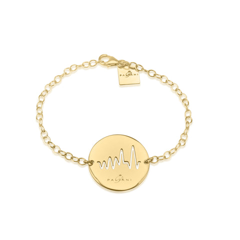 Moonlight Pulse bracelet, White Gold, 14K, ROLO chain