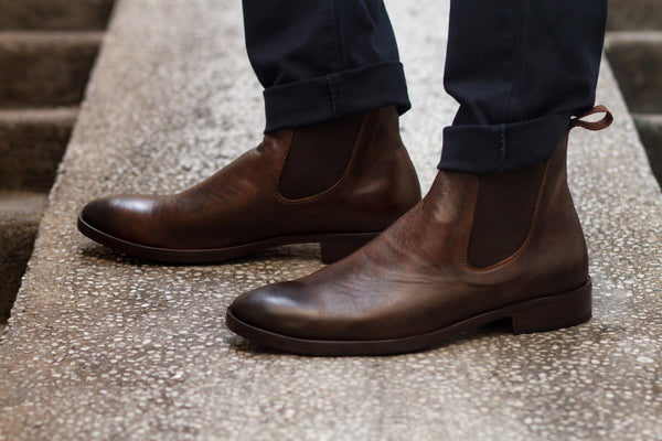 Leather Wholecut Chelsea Boot
