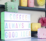 Set Letras Lightbox Pastel